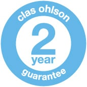 Clas Ohlson always has a 2 year guarantee