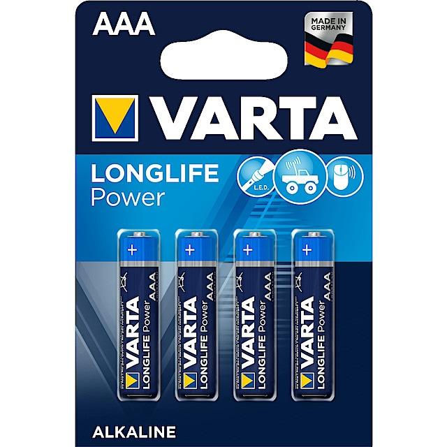 20 x  VARTA Longlife Power AAA Micro  MN2400  LR03 in Pappverschlussstreifen
